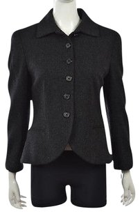 Ralph Lauren Black Label Womens Basic Textured Plaid Coat Multi-Color Jacket