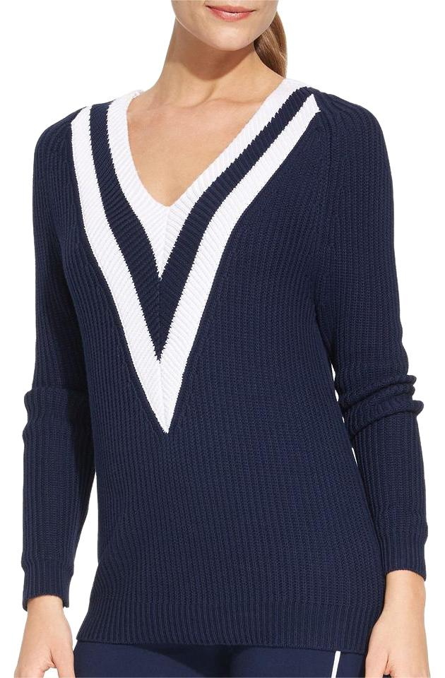 Added to Shopping Bag. Ralph Lauren Active Navy Nautical Cable Knit Sweater