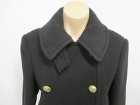 Ralph Lauren Blue Label Virgin Wool W Brass Buttons Made In Italy Pea Coat