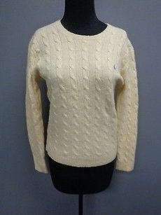 Ralph Lauren Sport Wool Casual Crewneck Cable Knit Sma3085 Sweater