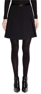 Ralph Lauren Full Mini Midi Flounce Wool Skirt Black