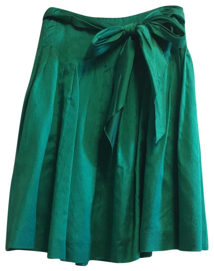 Green Knee Length Skirts