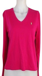 Ralph Lauren Womens Sport T Shirt Hot Pink
