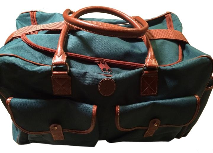 b34083dc9014 ... promo code for ralph lauren polo canvas lrl tote suitcase luggage green  brown travel bag f518f