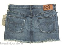 Ralph Lauren Rrl 3861363 Rslf Mini Skirt Blue