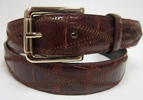 Ralph Lauren Ralph Lauren Brown Genuine Caiman Crocodile Belt 70511at