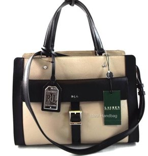 Ralph Lauren Leather Satchel in Gray
