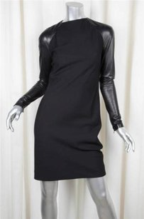 Ralph Lauren Collection Label Leatherwool Sheath Dress