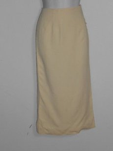 Ralph Lauren Cream Textured Skirt Ivories