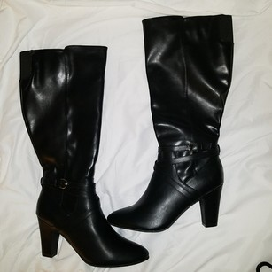 Rampage Black boot-man made material. Boots