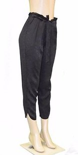 Ramy Brook Textured Stretch Silk Allyn Cropped 210098f Pants
