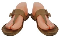 Rangoni Womens Thong B Leather Casual Tan Sandals