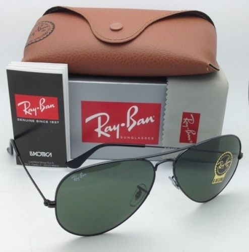Ray Ban Large Black Aviators 2017