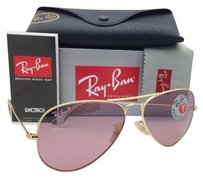 Ray-Ban Polarized RAY-BAN Sunglasses LARGE METAL Gold w/Pink lenses