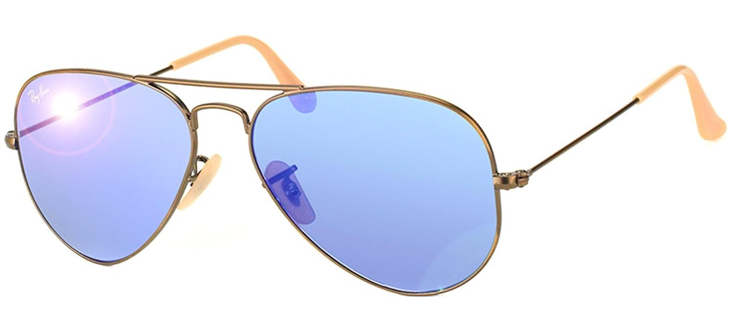 ray ban sunglasses blue aviator  Ray-Ban RB 3025 Classic Aviator Bronze Copper Frame Sunglasses ...