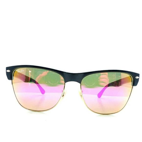 pink ray ban aviators 5y7a  Ray-Ban Rayban 4175 oversize clubmaster flash mirror