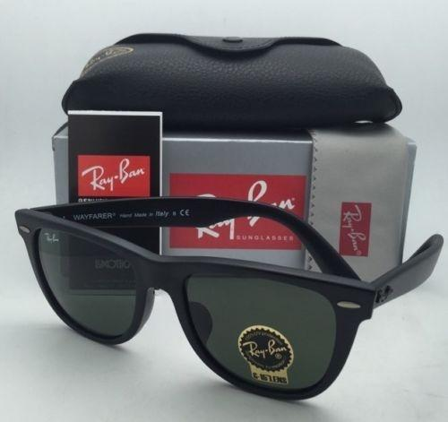 560eefdf71 ... get ray ban rb 2140 f 901 s 54 18 matte black frame w g15 green ...