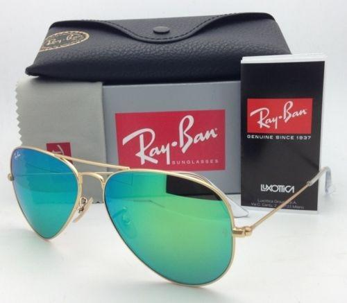 ray-ban aviator rb3025 black lens gold frame sunglasses
