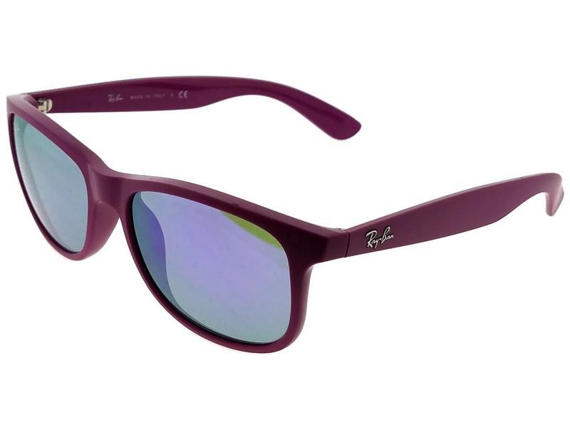 1487a48ccd ... discount ray ban rb4202 60714v andy mens violet frame grey lens 55mm  sunglasses nwt 26e84 87ab7 ...