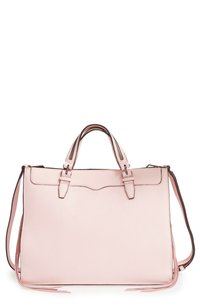 Rebecca Minkoff Leather Luxury Satchel in Pink