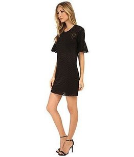 Rebecca Minkoff short dress Black Kristine Mesh Detail Shift 200503e on Tradesy
