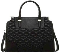 Rebecca Minkoff Handbag Shopping Leather Satchel in Black