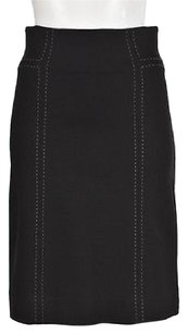 Rebecca Taylor Womens Gray 0 Textured Casual Skirt Black