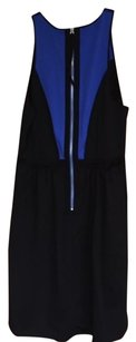 Rebecca Taylor Colorblock Ponte Black And Blue Free Shipping Dress