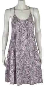 Rebecca Taylor Womens Sheath Animal Print Cotton Stretch Casual Dress