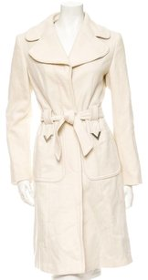 RED Valentino Belted Wool Wool Blend Silver Trench Coat