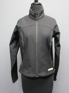 REI Rei Black Long Sleeve Full Zip Front Solid Pockets Athletic Jacket Sam1192