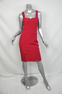 Reiss Sleeveless Red Fitted Dress