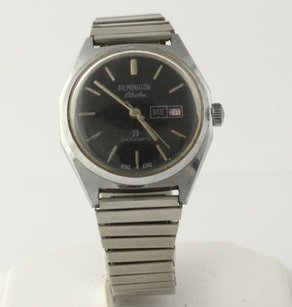Remington Mens Remington Electra Vintage Wristwatch - Stainless Dateomatic Hand Winding