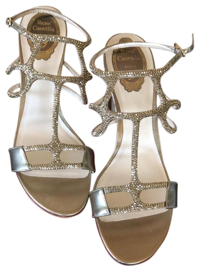 Rene Caovilla Crystal Caged 90mm Sandals Size US 9 Regular (M, B)