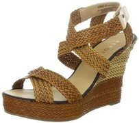 REPORT Brinkley Cognac Wedge Sandals