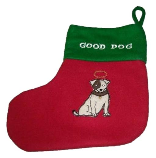 Hardware Dog Christmas Stocking Good Dog Bad Dog Restoration Hardware