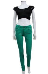 Rich & Skinny Green Button Up Skinny Jeans