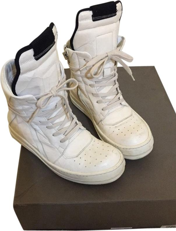 Rick Owens White Geobasket Sneakers Size US 6.5 Regular (M, B)