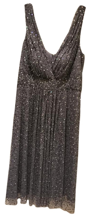 Ricki Freeman by Teri John beaded silver short party dress