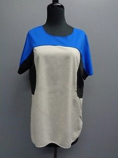 Robbi & Nikki by Robert Rodriguez Short Sleeved Top Black Gray Blue