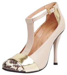 Robert Clergerie Nude Leather Beige Pumps