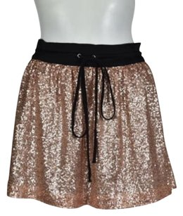Robert Rodriguez Womens Sequin Casual Above Knee Skirt Pink