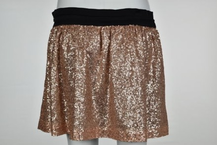 Robert Rodriguez Womens Pink Sequin A-line Skirt Casual Above Knee delicate