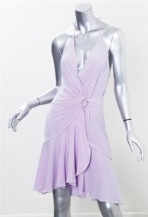 Roberto Cavalli short dress Lavander Womens Crepe Silk Sleeveless Knee Length on Tradesy