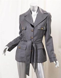Roberto Cavalli Heather Gray Jacket