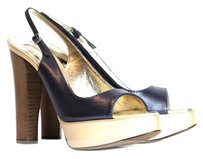 Roberto Cavalli navy blue, gold Sandals