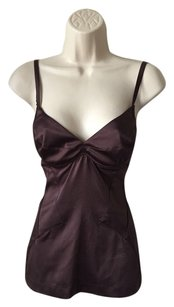 Roberto Cavalli Silk Bustier Top LIGHT CHOCOLATE COLOR