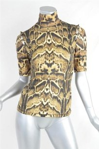 Roberto Cavalli Turtleneck Top Browns