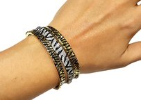 Roberto Coin 18 Karat Yellow Gold Bracelet With Enameled Zebra pattern