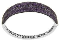 Roberto Coin ROBERTO COIN 18K WHITE GOLD FANTASIA AMETHYST BANGLE